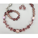 Necklace set   Light amethyst and crystal palette — rare vintage French givre, rare Japanese opalescent beads, sterling silver leaf clasp