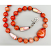 Necklace set | Orange is the new black — fabulous vintage Japanese and European orange/white/clear glass beads