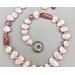 Necklace set   Morganite petals graduated strand, vintage Lucite teardrops, aventurina rounds