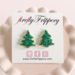 fireflyFrippery Green Christmas Tree Sugar Cookie Earrings on Card