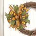 green orange brown sunflower bow