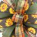 sunflower wreath and party bow