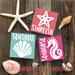 Sea Life Wood Sign Trio, Seahorse, Seashell & Starfish