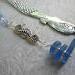 blue sea glass and seahorse on mermaid bookmark