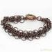 Chainmaille Aged Copper Byzantine Bias Bracelet