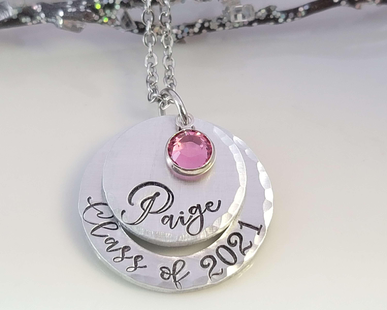 Class Of 2020 Necklace \u2022 Year \u2022 Date Necklace \u2022 Personalized \u2022 Graduation \u2022 Birth \u2022 Wedding \u2022 Anniversary \u2022 FREE SHIPPING!